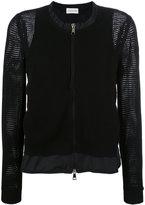 Moncler mesh knit zipped cardigan - women - Polyester/Viscose - S