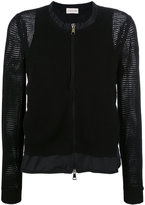 Moncler mesh knit zipped cardigan - women - Polyester/Viscose - XS