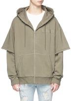 R 13 Double layer zip hoodie