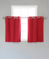 Best Home Fashion Cardinal Red Blackout Valance - Set of Two