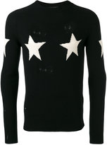 Marc Jacobs star pattern distressed jumper - men - Cashmere/Wool - S