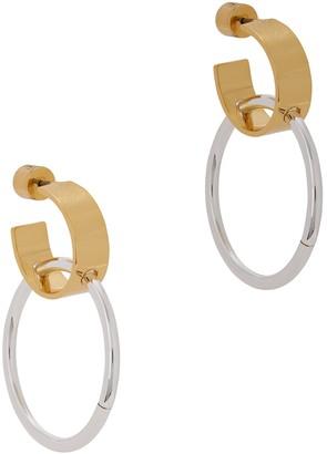 Jenny Bird Imogen two-tone dipped hoop earrings