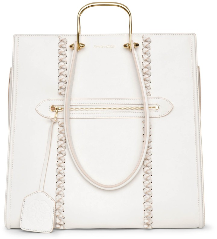 Alexander McQueen The Tall Story ivory tote bag