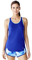 Lands' End Women's Speed Tank Top-Electric Blue Print