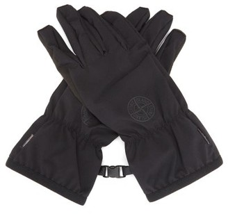 Stone Island Compass Logo-print Soft Shell-r Gloves - Black