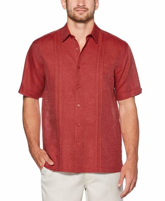 Cubavera Inverted Pintuck Linen Shirt