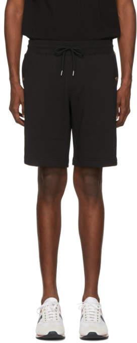 Moncler Black Sweat Shorts