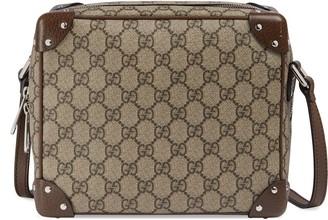 Gucci GG shoulder bag with leather details
