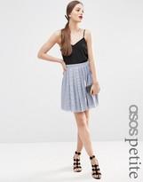 Asos Pleated Lace Mini Skirt