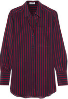Sonia Rykiel Striped Silk Crepe De Chine Shirt - Midnight blue