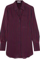 Sonia Rykiel Striped Silk Crepe De Chine Shirt - Midnight blue