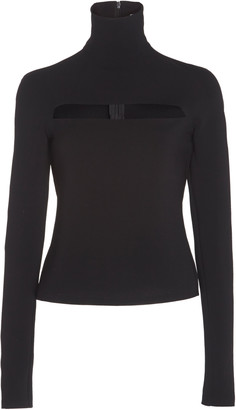 A.W.A.K.E. Mode Cutout Crepe Turtleneck