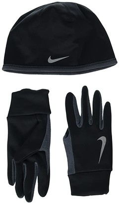 Nike Run Thermal Hat and Gloves Set (Black/Anthracite/Silver) Athletic Sports Equipment