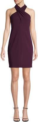 Eliza J Sleeveless Side Pleat Dress
