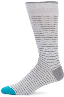 Saks Fifth Avenue Fine Chevron Striped Socks