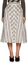 Fendi Women's Striped Layered Silk Midi-Skirt