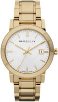 Burberry Check Sunray Watch with Bracelet, Golden