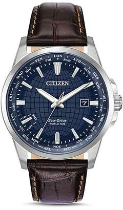 Citizen World Time Eco-Drive Watch, 41mm