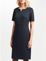 John Lewis Jolie Notched Neck Jersey Pencil Dress, Deep Blue