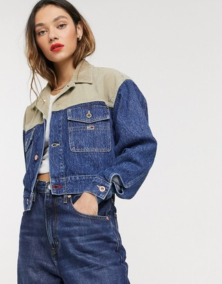 Tommy Jeans crop denim jacket-Blue