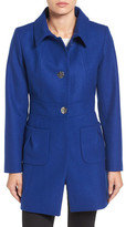 CeCe Nora Tuck Pocket Wool Blend Coat