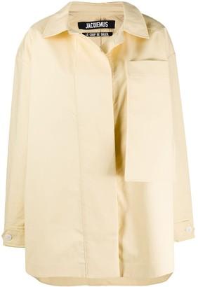 Jacquemus Camiseto oversized pocket coat