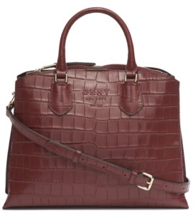 DKNY Leather Noho Triple Compartment Satchel Bag