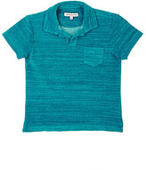 Orlebar Brown STRIATED POLO SHIRT-BLUE SIZE 6