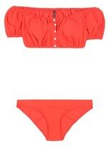Lisa Marie Fernandez Leandra Seersucker Button Down Bikini