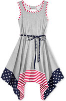 Bonnie Jean Americana Hanky Hem Dress, Little Girls (2-6X)