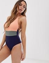 Tavik color block swimsuit