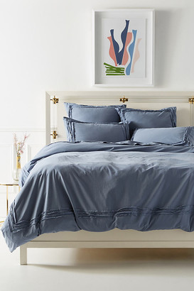 Anthropologie Joey Washed Percale Duvet Cover By in White Size Q top/bed