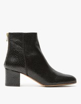 Mei Boot in Black Snake