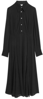 Arket Fluted Long-Sleeved Dress