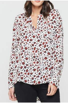 Velvet Heart White/brick Leopard Blouse