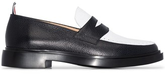 Thom Browne Penny two-tone leather loafers