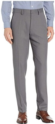 Kenneth Cole Reaction Heather Stretch Gab Modern Fit Dress Pants (Navy) Men's Casual Pants