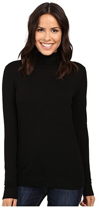 Pendleton Timeless Turtleneck (Black) Women's Clothing