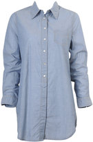 Chambray Snap-Buttoned Shirt