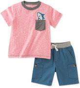 Kids Headquarters 2-Pc. Shark-Pocket T-Shirt & Shorts Set, Baby Boys (0-24 months)