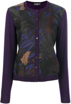 Salvatore Ferragamo Foliage print cardigan - women - Silk/Virgin Wool - XS