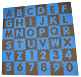 Tadpoles Blue & Brown ABCs Play Mat Set