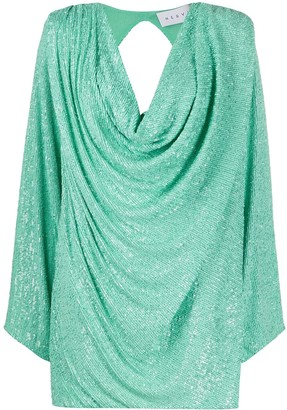 NERVI Carol sequin cowl-neck dress