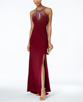 Night Way Nightway Embellished Halter Gown
