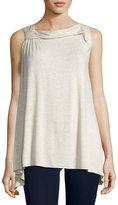 Max Studio Twist-Shoulder Sleeveless Jersey Top