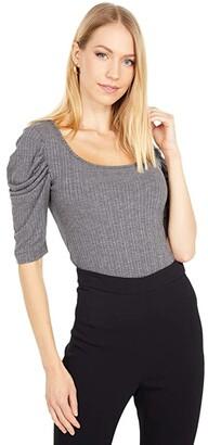 BB Dakota Get The Scoop Top (Medium Heather Grey) Women's Clothing
