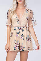 Honeybelle honey belle Embroidery Floral Romper