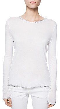 Zadig & Voltaire Willy Foil Trim Spi Tee