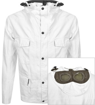 C.P. Company Goggle Hood Jacket White