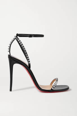 Christian Louboutin So Me 100 Studded Leather Sandals - Black